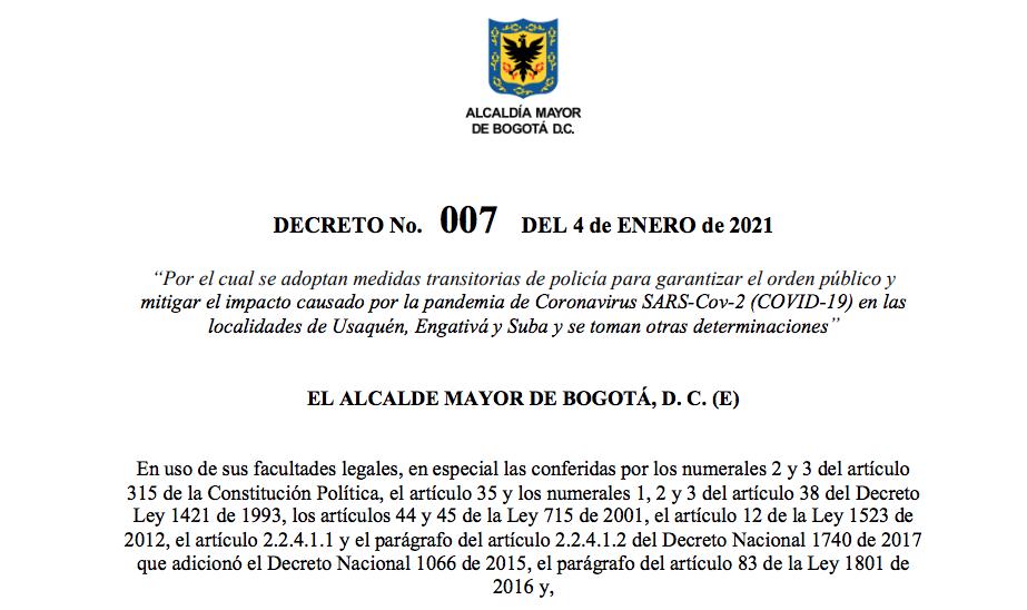 Establecimientos gastronómicos de Bogotá pueden funcionar hasta las 10pm